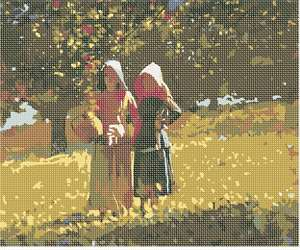 Needlepoint: Apple Picking