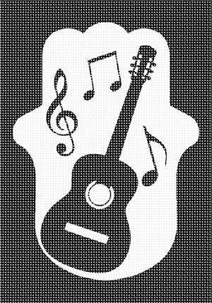 Guitar silhouette in a hamsa surrounded by music notes. There is a lot of truth to the common saying that music soothes the soul. Music has officially been recognized as a form of therapy. It stimulates so many parts of the brain and emotions to a rate that it can lower blood pressure and heart rate.