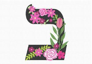 Letter Bais in Hebrew. Decorative Floral monogram in all Hebrew letters available.
