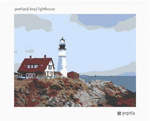 Needlepoint: Portland Head Lighthouse