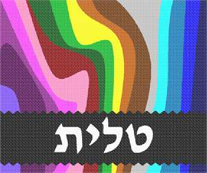 A colorful and bold tallit bag!