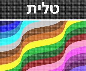 Tallit bag wave pattern in colorful shades