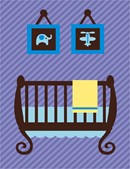 Needlepoint: Baby Boy Crib