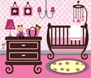 Needlepoint: Baby Girl Nursery
