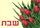 Challah cover with a tulip bouquet to enhance your Shabbat table
