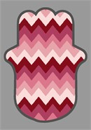 Hamsa in popular chevron pattern
