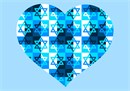 Magen David patterns in a heart