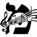 Hebrew Alphabet initial for the music lover, musician, orchestra performer or composer