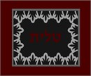 A tallit bag in maroon and charcoal