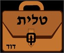 A tallit bag meant to look like a briefcase.