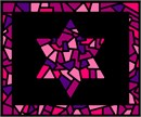 Tallit Glass Borders Pinks