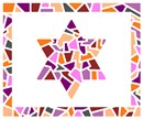 Tallit in stained glass variation