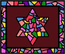 Needlepoint: Tallit Stained Glass Bordeaux