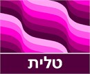 Tallit bag wave pattern in shades of magenta