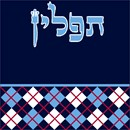 Tefillin bag design with argyle pattern.