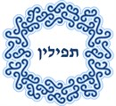 Needlepoint: Tefillin Squirls Blue