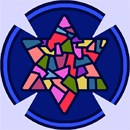 Needlepoint: Yarmulka Star Stained Glass