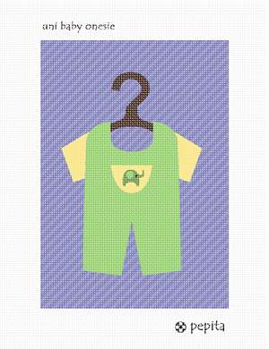 A unisex onesie baby outfit for your baby nursery.  See coordinating unisex baby crib needlepoint.