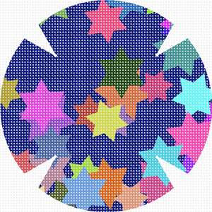 Random spread of multi-colored stars.