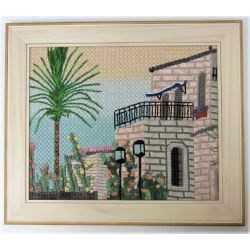 framed stitched jerusalem scenery